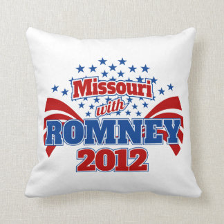 Missouri with Romney 2012 Throw Pillow