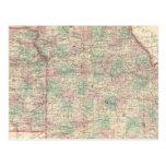 Missouri y Kansas 2 Tarjeta Postal