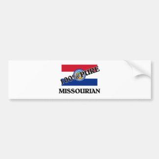 Missourian del 100 por ciento etiqueta de parachoque