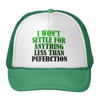 Misspelled Perfection Funny Ball Cap Hat
