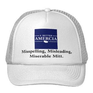 Misspelling Mitt Trucker Hat