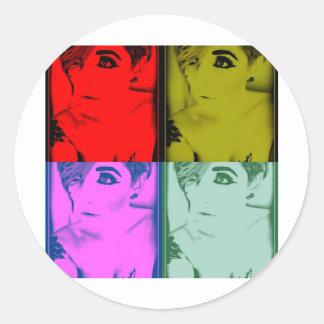 MissTeri85 style pic Classic Round Sticker