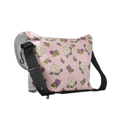 Missy and small bird in Rosa Courier Bag