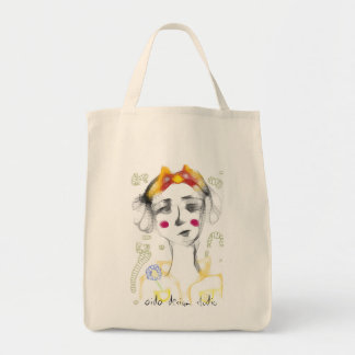 Missy Bow-Cheeks Grocery Tote Bag