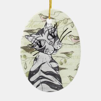 Missy Cat 01 Ceramic Ornament