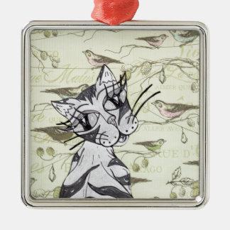 Missy Cat 01 Metal Ornament