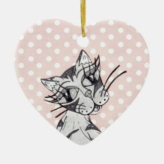 Missy Cat 02 Ceramic Ornament