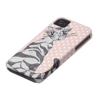 Missy Cat 02 iPhone 4 Case