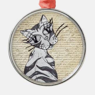 Missy Cat 7 Metal Ornament
