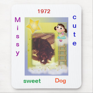 Missy cute dog mouse pad