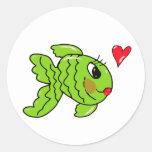 missy fishy classic round sticker