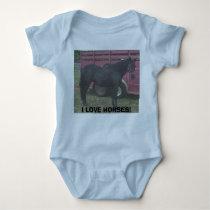 missy, I LOVE HORSES! Baby Bodysuit