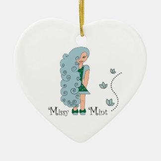 Missy Mint Ceramic Ornament