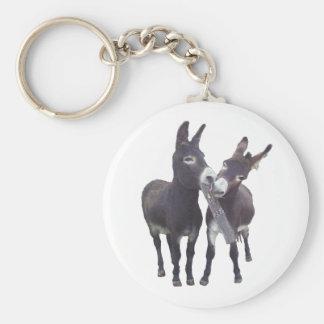 """""""Missy's Donkeys"""" Round Keychain"""