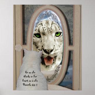 Missy's Inner Snow Leopard Poster