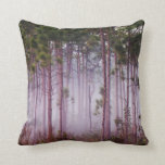 Mist among pine trees at sunrise, Everglades Pillow