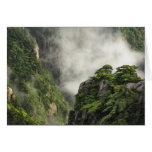Mist among the peaks and valleys of Grand Canyon Greeting Cards
