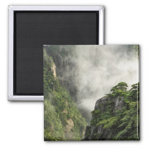 Mist among the peaks and valleys of Grand Canyon Refrigerator Magnets