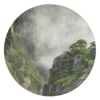 Mist among the peaks and valleys of Grand Canyon Melamine Plate