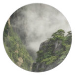 Mist among the peaks and valleys of Grand Canyon Party Plates