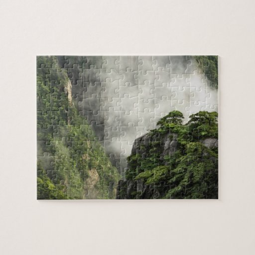 Mist among the peaks and valleys of Grand Canyon Jigsaw Puzzle