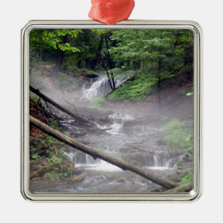 Mist and Magic Square Metal Christmas Ornament
