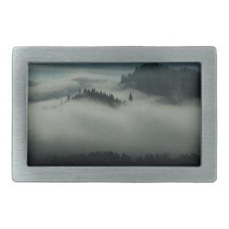 Mist at the Lake Rectangular Belt Buckle