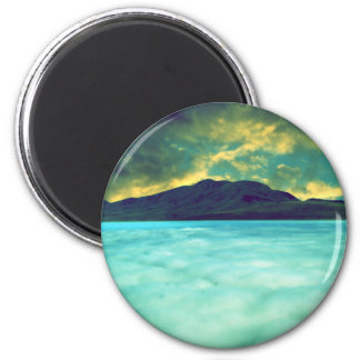 Mist Landscape 2 Inch Round Magnet