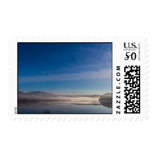 Mist on a Scottish Loch Postage Stamp