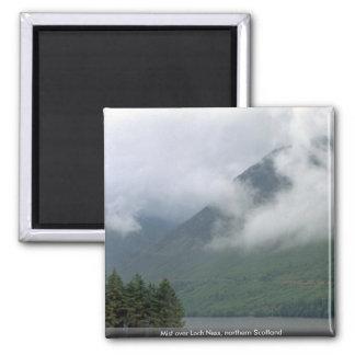 Mist over Loch Ness, northern Scotland Magnet