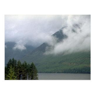 Mist over Loch Ness, northern Scotland Postcard
