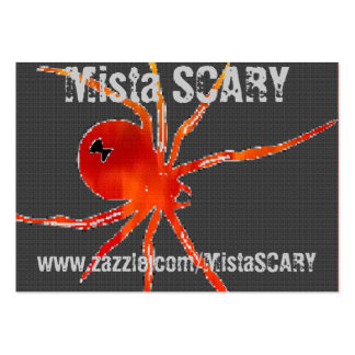 Mista SCARY Black Widow Grim Reaper Profile Card Large Business Cards (Pack Of 100)