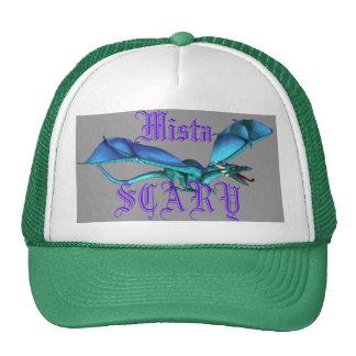 Mista SCARY Blue Dragon Roaring Purple Logo Custom Trucker Hat