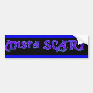 Mista SCARY blue logo Bumper Sticker - Customized