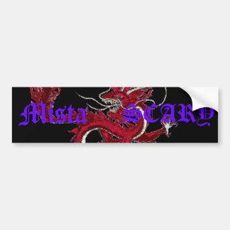 Mista SCARY Dragon Oriental Purple Logo Custom Bumper Sticker
