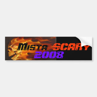 Mista SCARY Flaming Skull 2008 Car Bumpersticker Car Bumper Sticker