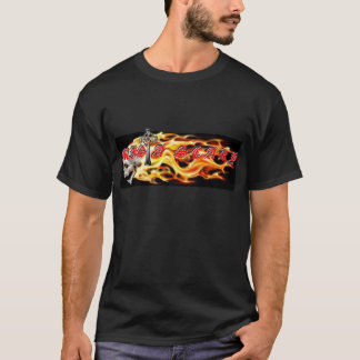 Mista SCARY Skull Flames Cross Log... - Customized T-Shirt