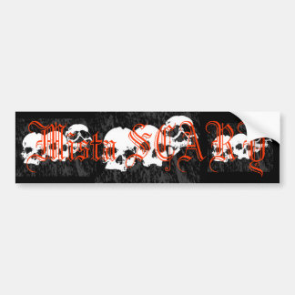 Mista SCARY Skulls Logo Bumpersticker - Customized Bumper Stickers