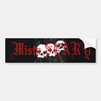 Mista SCARY Skulls Logo Bumpersticker -Customized Bumper Stickers