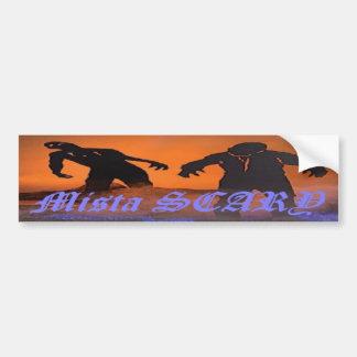 Mista SCARY Zombie Scene Bumpersticker Bumper Sticker