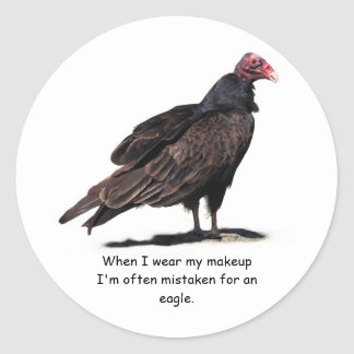 MISTAKEN FOR AN EAGLE CLASSIC ROUND STICKER