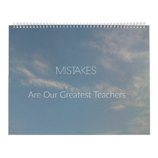 Mistakes are Greatest Teachers 2018 Inspirational Calendar