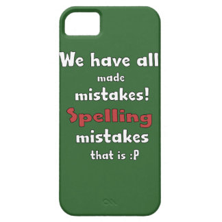 Mistakes iPhone 5 Case