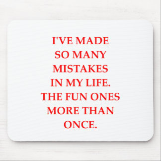 MISTAKES MOUSE PAD