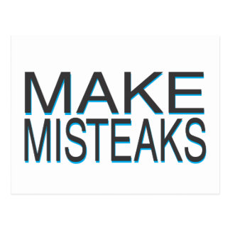 Mistakes Postcard