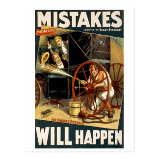 Mistakes Will Happen Postcard