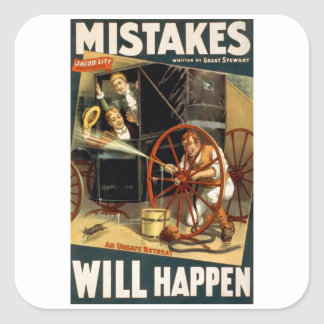 Mistakes Will Happen Stickers