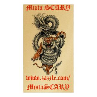MistaSCARY Dragon Tiger Breathing Fire Card Custom Business Card