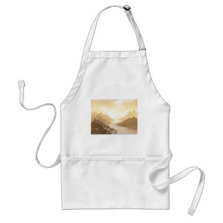 Misted Mountain River Passage Adult Apron