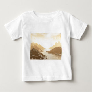 Misted Mountain River Passage Baby T-Shirt